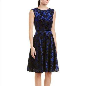 Tahari | ASL Dress Black/Cobalt Blue